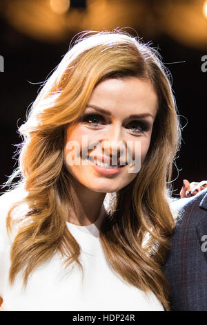 Photocall with Katherine Jenkins and Alife Boe on stage at the London Coliseum. Katherine Jenkins and Alfie Boe - Stock Photo