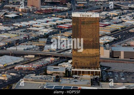 Aerial view of Trump International Hotel Las Vegas, Nevada, USA - Stock Photo