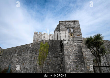 A view of Castle Rushen in Castletown, Isle of Man - Stock Photo