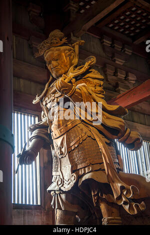 Detail from the Todaiji temple in Nara, Japan - Stock Photo