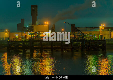 Inter Terminal Jetty at Seal Sands, Middlesbrough, Cleveland, UK - Stock Photo