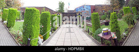 Panorama of Falls rd,Garden of remembrance, IRA members killed,also deceased ex-prisoners,West Belfast,NI, UK - Stock Photo
