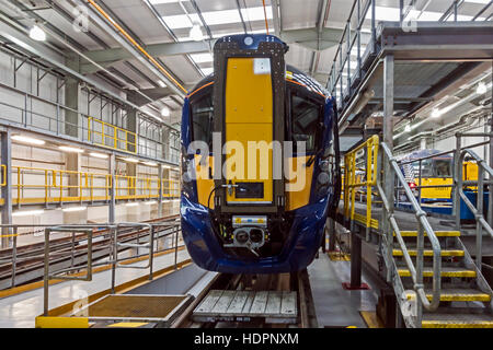 Unveiling of new Hitachi Class 385 by Scotrail at Shiels Railway Depot Glasgow Scotland 11 December 2016 - Stock Photo