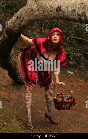 'Boy Meets World' star Maitland Ward poses as Little Red Riding Hood for a Halloween photoshoot.  Featuring: Maitland - Stock Photo