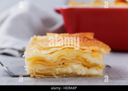 cheese and pastry pie phyllo burek - Stock Photo