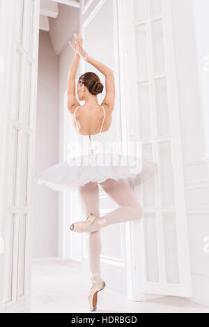 Young ballet dancer standing on tiptoes - Stock Photo