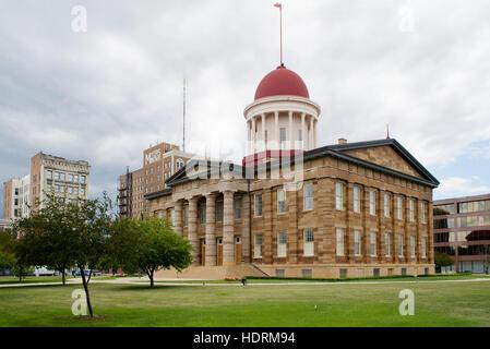 Old State Capitol, Springfield, Sangamon County, Illinois, USA - Stock Photo