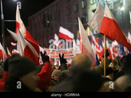 Warsaw, Poland. 13th Dec, 2016. On December 13 2016, Poland marked the 35th anniversary of the imposition of Martial - Stock Photo