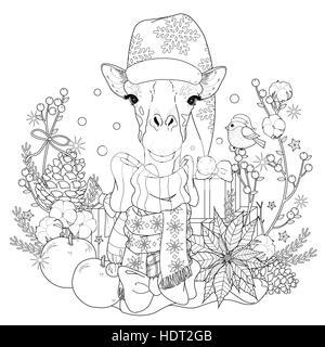 detailed illustration of giraffe - vector Stock Vector Art ...