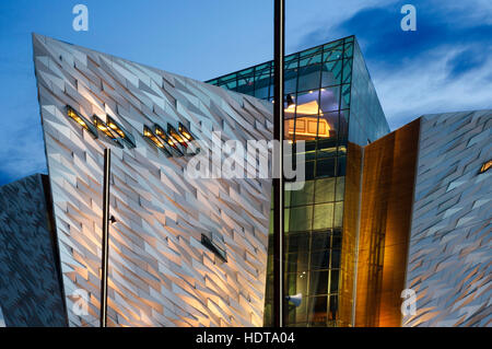 Titanic Belfast museum and Visitors Centre, Titanic Quarter, Belfast, Northern Ireland, UK. Its creators describe - Stock Photo
