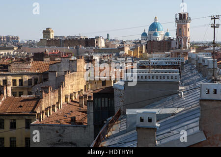 View of houses in the city center in Saint Petersburg - Stock Photo