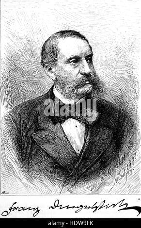 Franz von Dingelstedt, Franz Freiherr von Dingelstedt, 1814-1881, a German poet, dramatist and theatre administrator, - Stock Photo