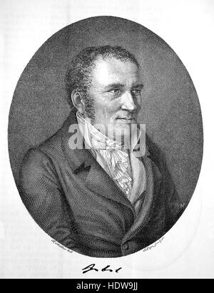 Johann Peter Hebel, 1760-1826, a German short story writer, dialectal poet, evangelical theologian and pedagogue, - Stock Photo