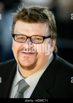 Director Michael Moore arrives at the People's Choice Awards in  Pasadena, California on Sunday, 09 January, 2004. - Stock Photo