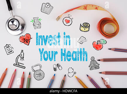 Invest in your health concept. Healty lifestyle background. - Stock Photo