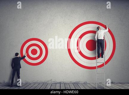 Hitting bigger business target - Stock Photo