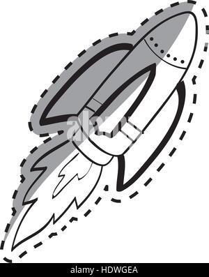 Rocket spaceship draw icon vector illustration graphic design ...