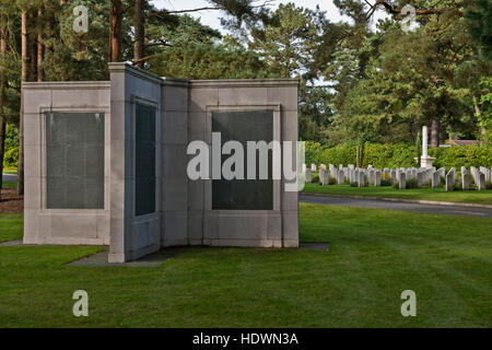 One of the memorials inside the Brookwood Military Cemetery, Surrey. Image taken in September 2013 - Stock Photo