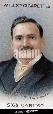 ENRICO CARUSO (1873-1921) Italian operatic tenor on a Will's cigarette card about 1914 - Stock Photo