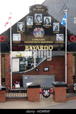Bayardo Bar mural, off Shankill Road West Belfast,Northern Ireland,UK - Stock Photo
