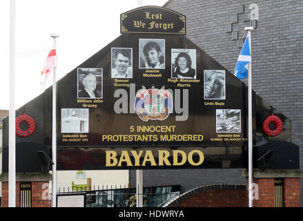Bayardo Bar mural, off Shankill Road West Belfast,Northern Ireland,UK - Stock Photo