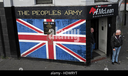 The Peoples Army,Shankill Road West Belfast,Northern Ireland,UK - Stock Photo
