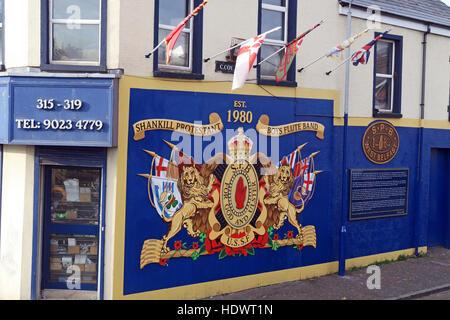 Shankill Protestant Boys Flute Band art,Shankill Road West Belfast,Northern Ireland,UK - Stock Photo
