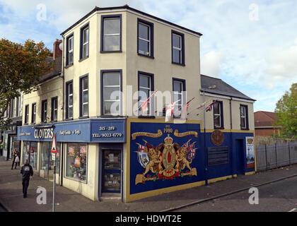 UFF Unionist mural, off Shankill Road West Belfast,Northern Ireland,UK - Stock Photo