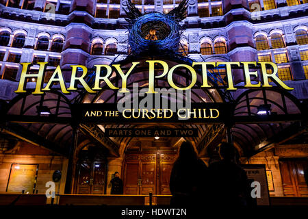 Harry Potter and The Cursed Child at the Palace Theatre, London, UK - Stock Photo