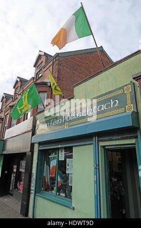 Belfast Falls Rd Republican Sinn Fein Souvenir Shop - Stock Photo