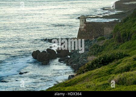 La Garita del Diablo, San Cristobal Castle (1765-1783), San Juan National Historic Site, Old San Juan, Puerto Rico - Stock Photo