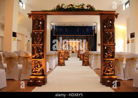... Temple Ready For A Wedding Ceremony At The Shri Venkateswara (Balaji) Hindu  Temple In