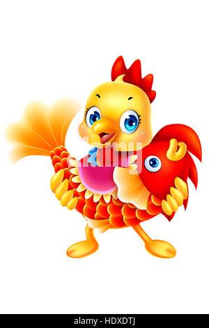 Illustration chicken - Stock Photo