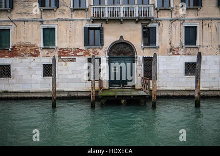 Architectural detail from The Grand Canal Venice, Italy. - Stock Photo