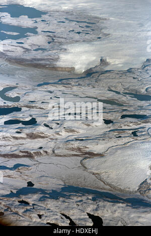 Terminating glaciers on the snow and Ice fields of Baffin Island Northern Canada.SCO 11,279. - Stock Photo