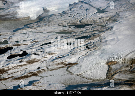Terminating glaciers on the snow and Ice fields of Baffin Island Northern Canada. SCO 11,280. - Stock Photo