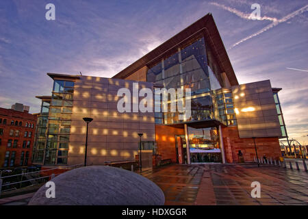 The Bridgewater Concert Hall, Manchester City Centre, Manchester, Greater Manchester, England. - Stock Photo