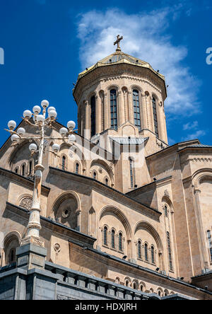 Georgia, Tbilisi , Avlabari district . Cathedral Holy Trinity Cathedral of Tbilisi . - Stock Photo