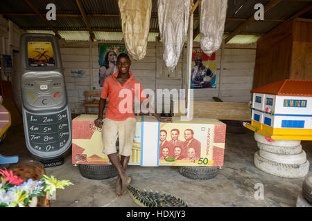 Casket design for the death in Ghana, - Stock Photo