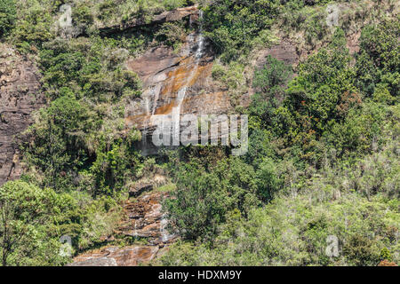 Beautiful waterfall, in Sri Lanka - Stock Photo