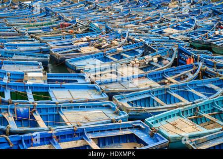 Boat parking, Essaouira, Morocco - Stock Photo