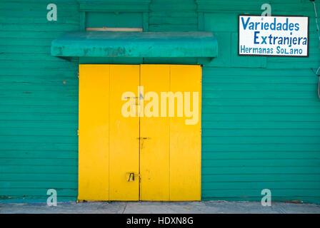 Closed shop, Dominican Republic, Caribbean - Stock Photo