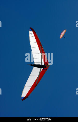 Hang glider in the sky - Stock Photo