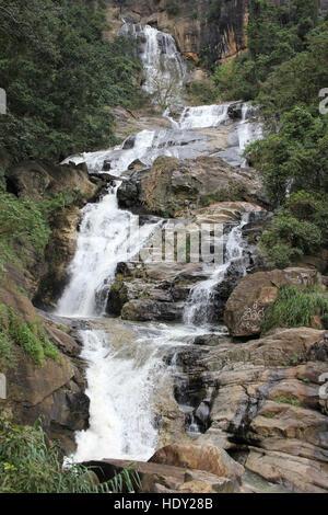 Ravana Ella Waterfall, Sri Lanka - Stock Photo