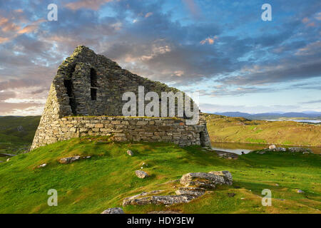 Pictures of Dun Carloway Broch on the Isle of Lewis in the Outer Hebrides, Scotland. Brochs are among Scotland's - Stock Photo
