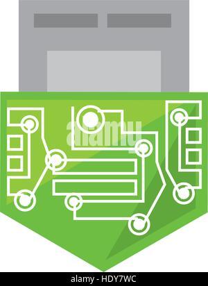 usb circuit electronic hardware - Stock Photo