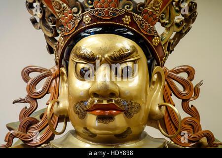 China, Hong Kong, Interior Lantau Island Po Lin buddhist monastery - Stock Photo
