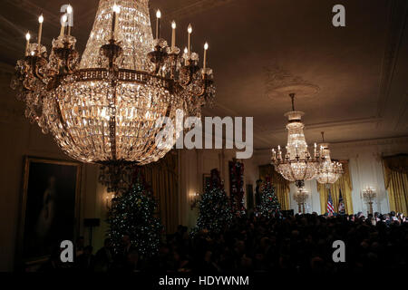 Washington, DC, USA. 14th Dec, 2016. Atmosphere during the second Hanukkah reception of the day in the East Room - Stock Photo