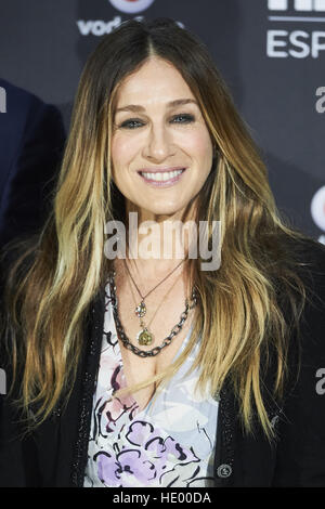 Madrid, Madrid, Spain. 15th Dec, 2016. SARAH JESSICA PARKER attended the Launch of HBO Spain photocell at URSO Hotel - Stock Photo