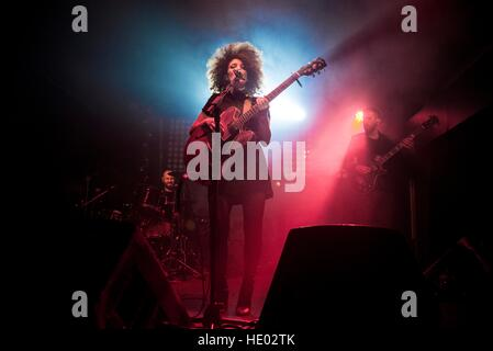 Milan, Italy. 15th Dec, 2016.  Marianne Mirage, Italian singer, live show in Milan. Marianne Mirage is among the - Stock Photo